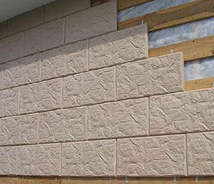 Бетонная плитка под кирпич для фасада
