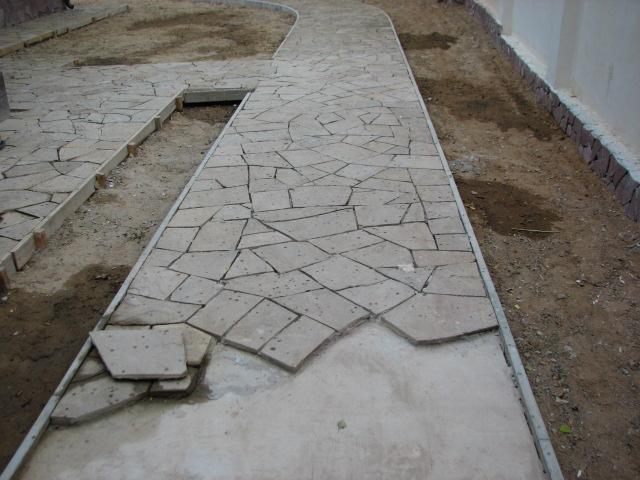 Мощение на цементно-песчаный раствор