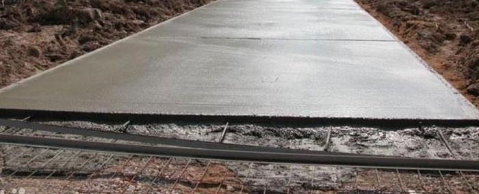 бетонное основание под брусчатку
