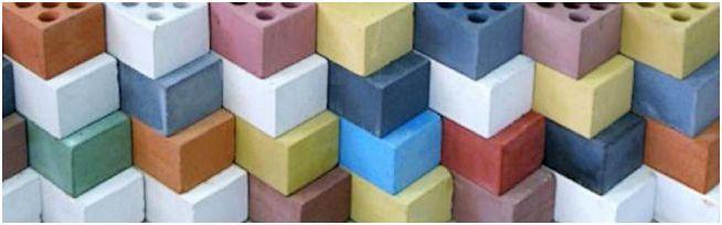 цветные силикатные кирпичи