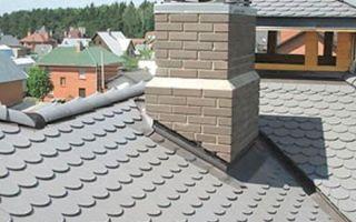 Изготавливаем правильно печную трубу на крыше из кирпича